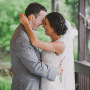 We're crushing on this dreamy lakeside wedding!