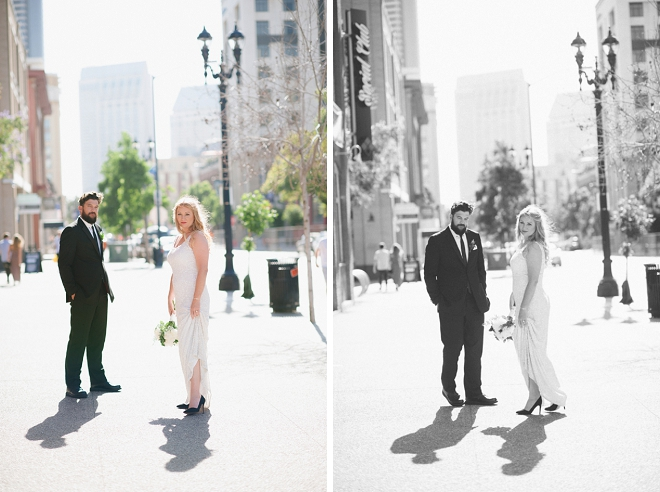 We are swooning over this gorgeous Mr. and Mrs. and their amazing loft wedding!