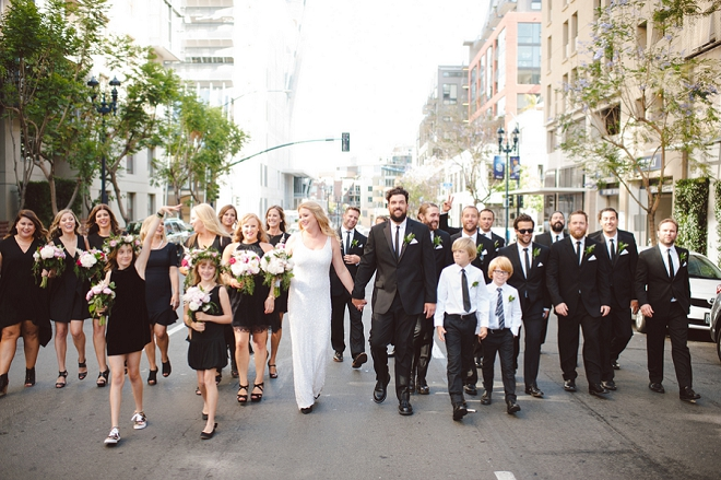We love this Bride + Groom and their stunning wedding party!