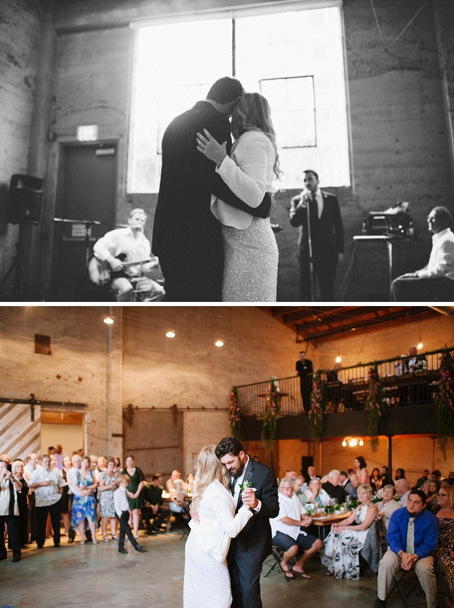 Such a sweet first dance between the new Mr. and Mrs!