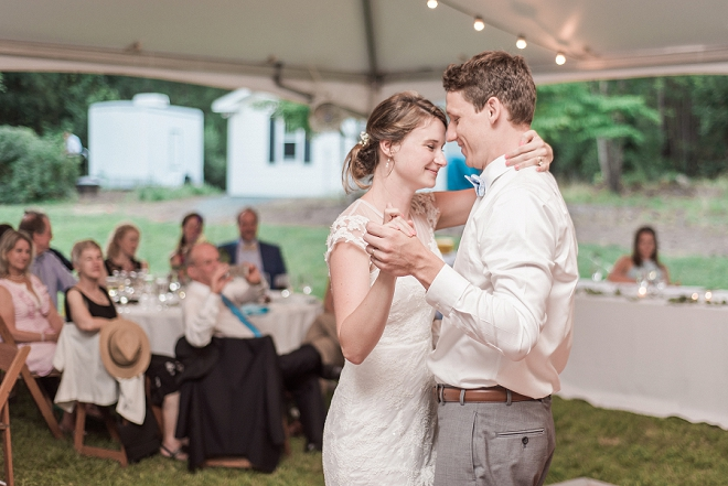 We love this sweet first dance as Mr. and Mrs!