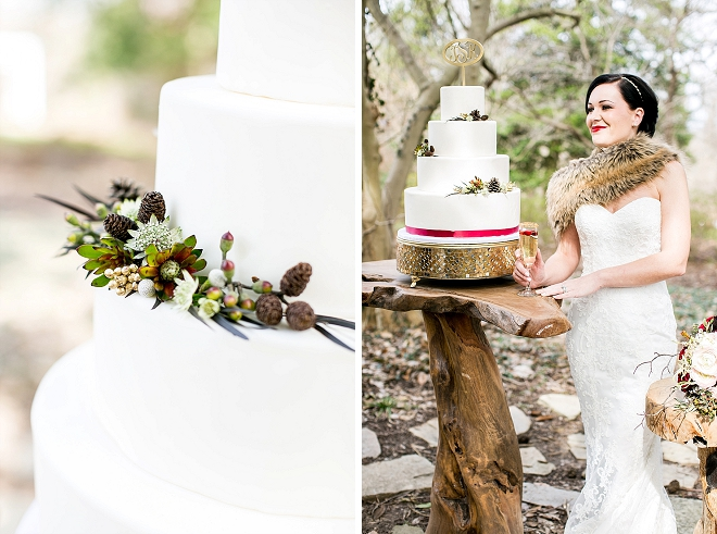 How darling is this snow white themed wedding cake?! LOVE!
