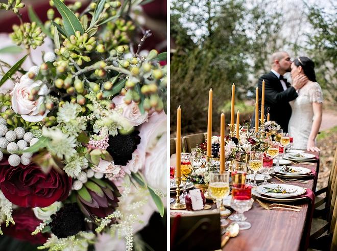We're crushing on this stunning styled Snow White wedding!