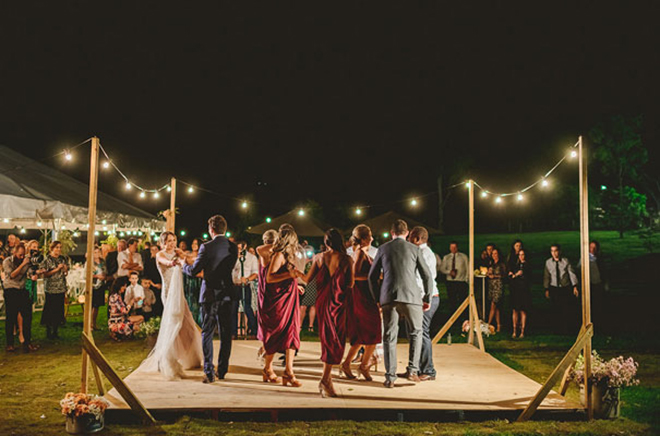 Simple dance floor decor can still make a statement!