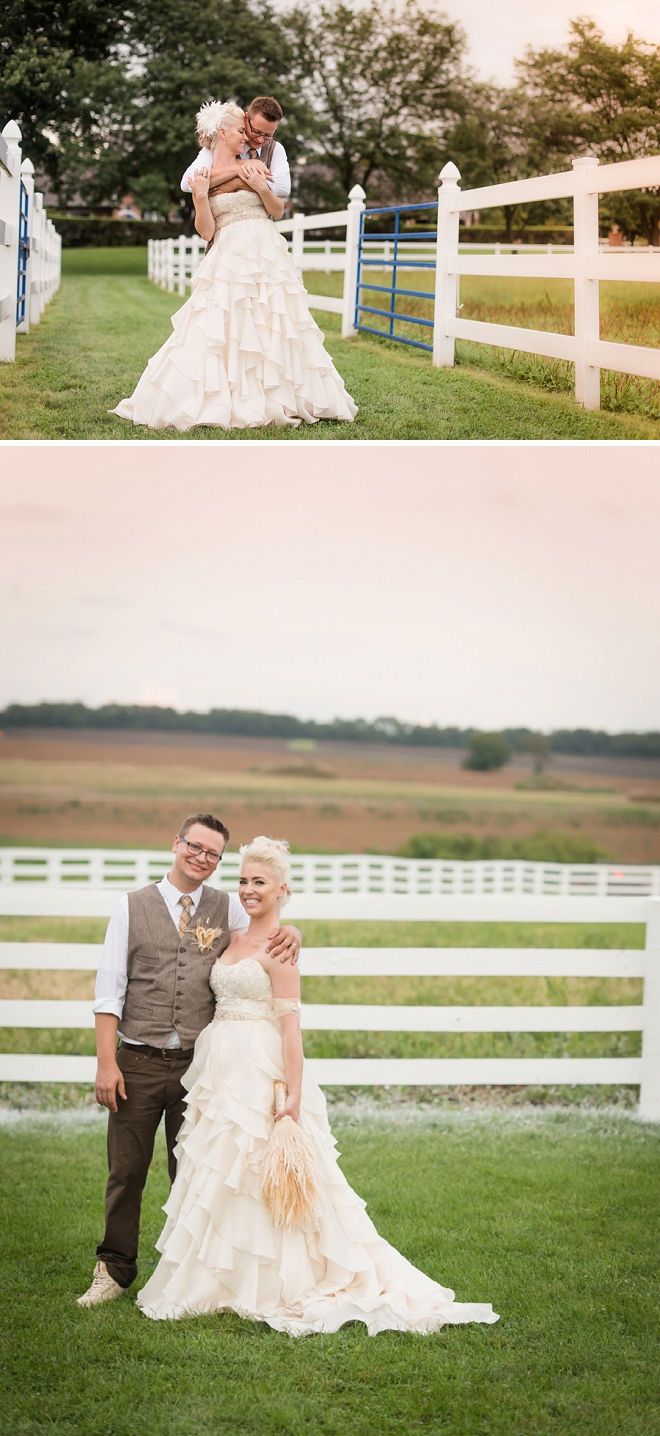 Swooning over this gorgeous couple and their fun wedding!