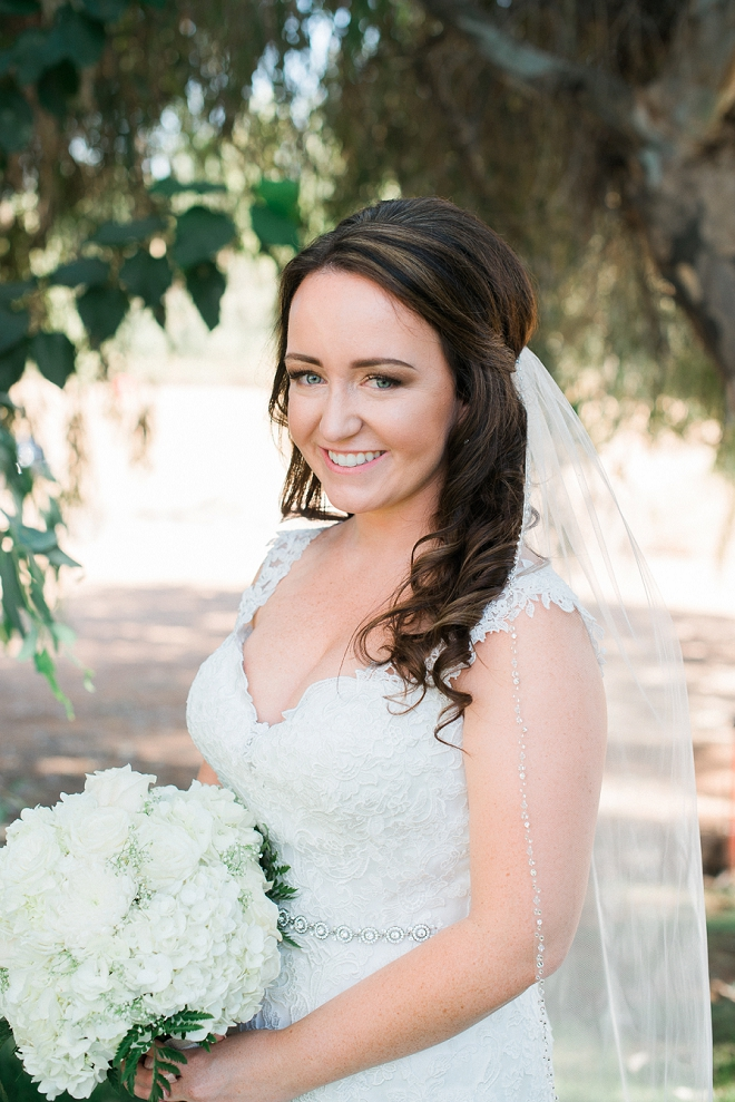 The beautiful Bride before the ceremony!