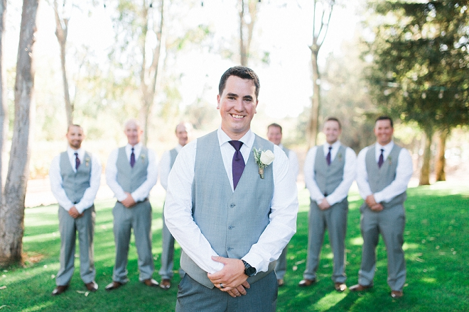 The handsome Groom and his Groomsmen before the ceremony!