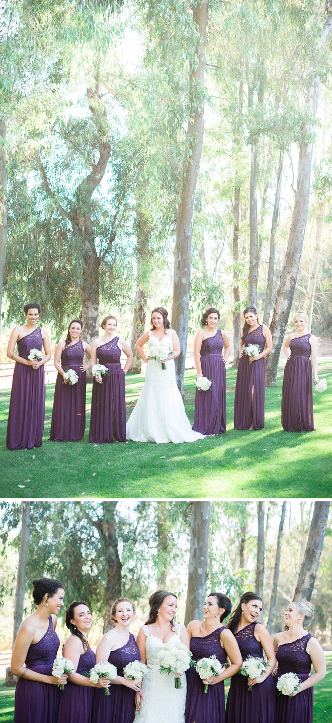 We're loving these fun shots of the Bride and her Bridesmaid's before the ceremony!