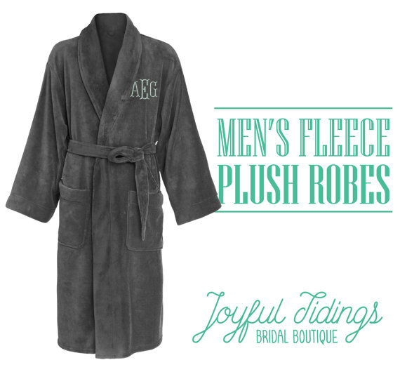 Your man will love these soft fleece robe!