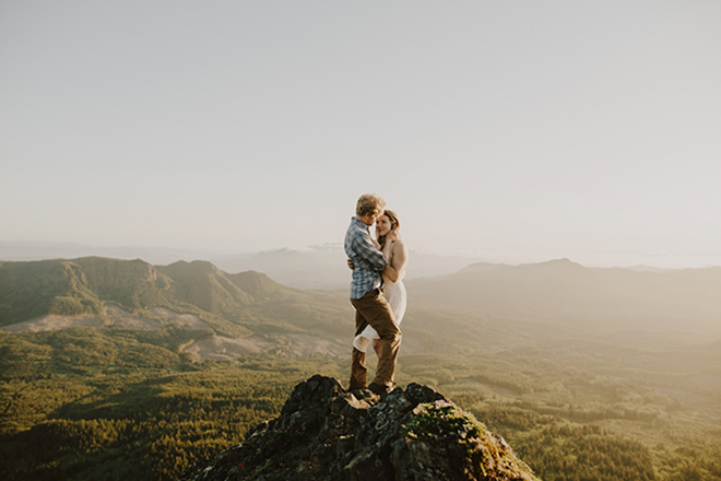 Find a breathtaking landscape to use as your engagement photo backdrop.