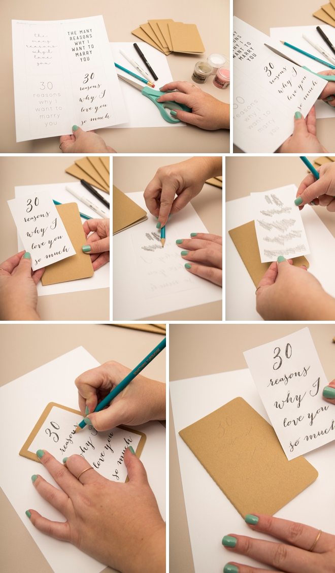 Learn how to heat emboss these moleskin journals!