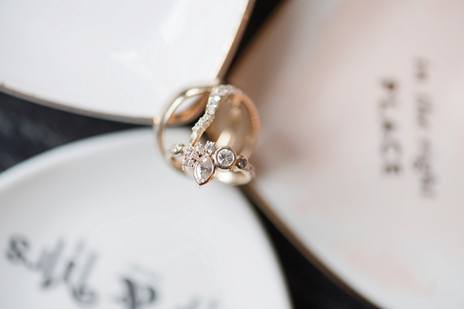 How gorgeous is this Bride's ring made from the melted metal of the Bride and Groom's parents wedding bands! Swoon!