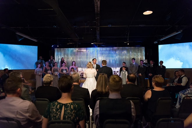 The super sweet ceremony where this couple met!