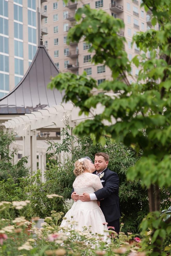 We LOVE this couple's handmade industrial wedding!
