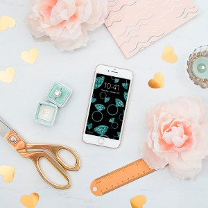 Click to get these darling free iPhone wallpapers for the DIY bride!