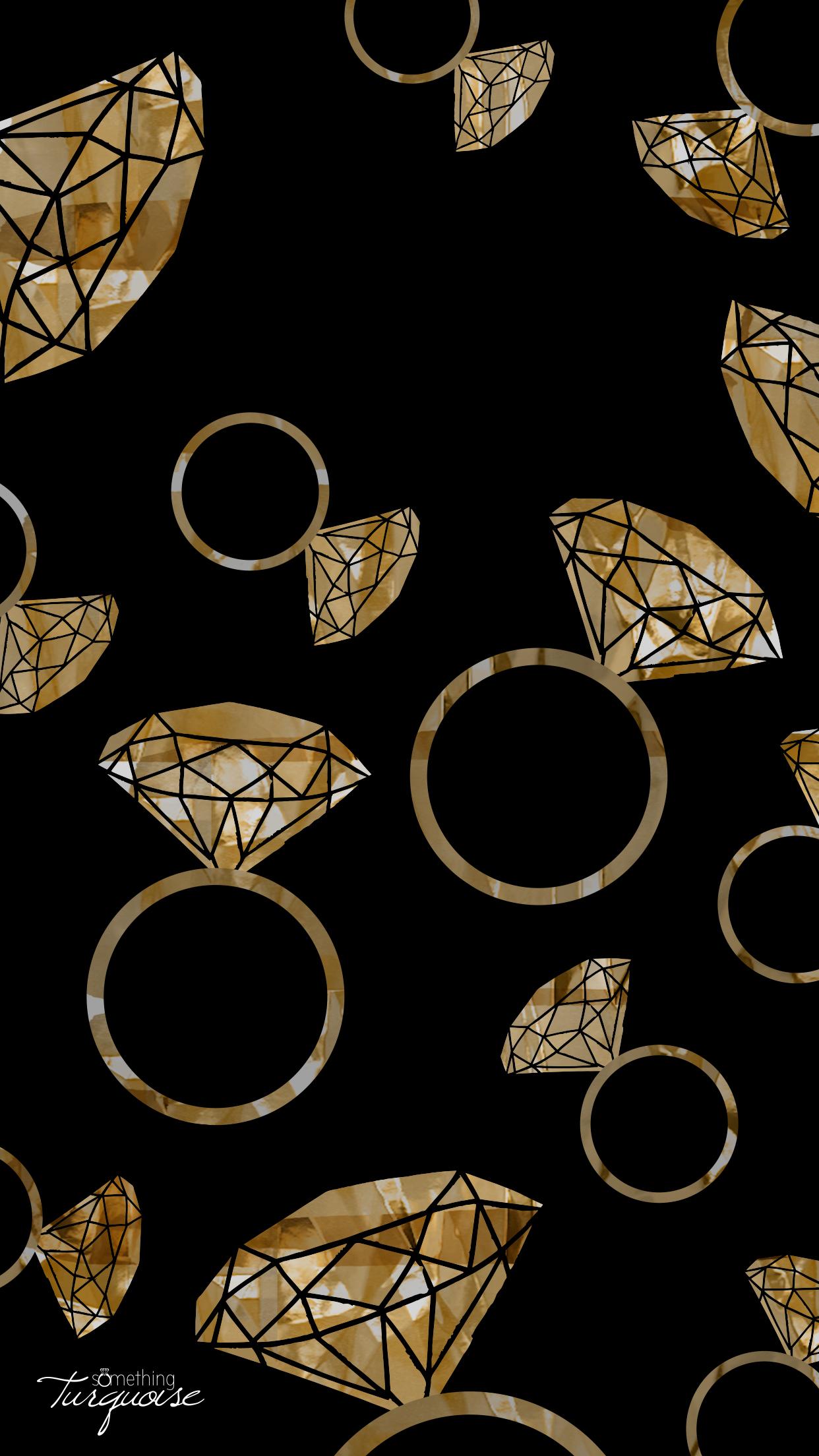FREE gold diamond ring iPhone wallpaper!