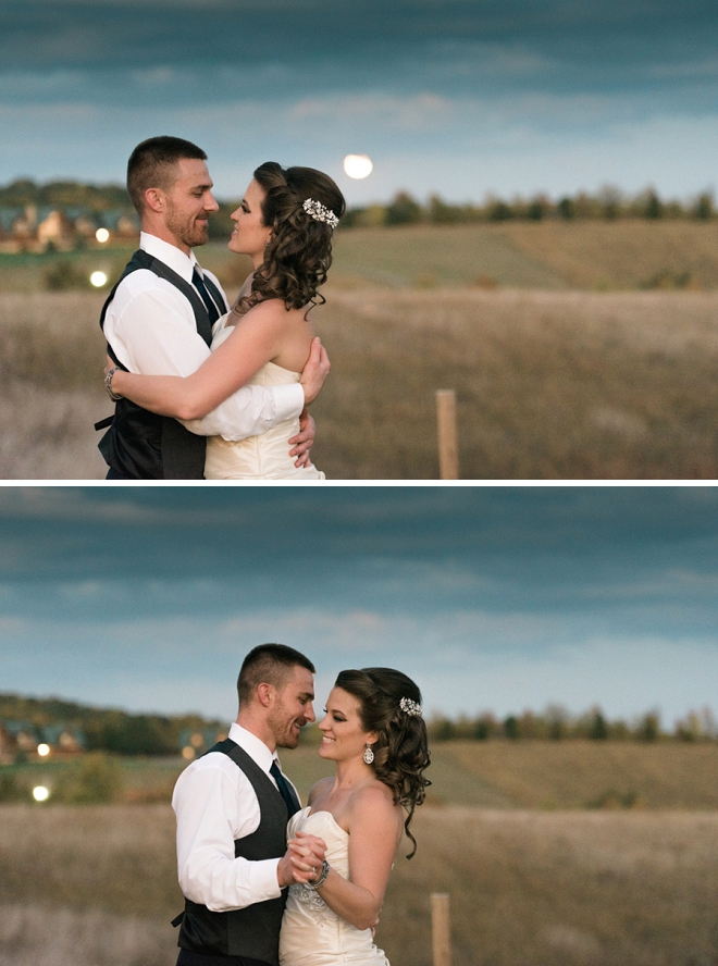 Such a sweet snap of this Mr. and Mrs. dancing in the full moon light!