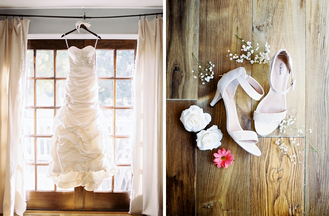 We love the detail shots of the Brides shoes and dress before the ceremony!