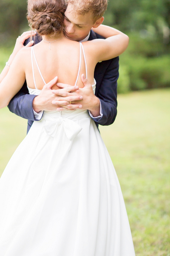 How darling is this snap of the Groom holding his Bride?! LOVE!