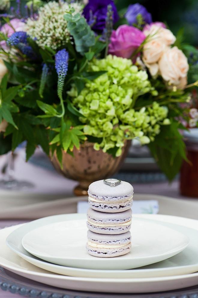 Macaron and Ring Wedding Shot.