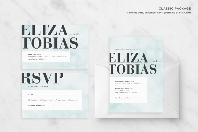 Marble Wedding Invitation Suite by Oh Na La