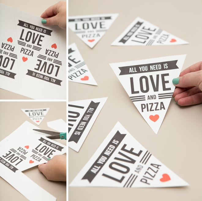 All you need is love and pizza... such a cute DIY late night wedding snack idea!