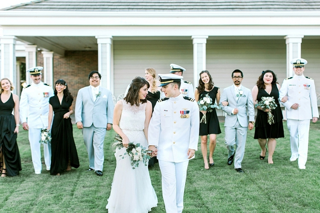 Stunning snap of this couple and their stunning bridal party!