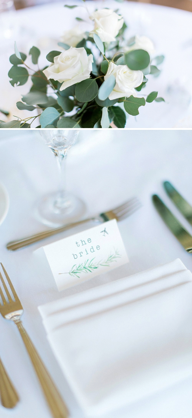 How cute are these placecards the Bride DIY'd?! We LOVE them!
