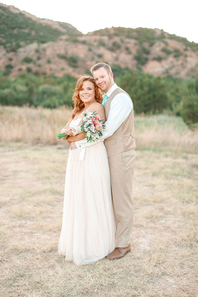 We're swooning over this darling Mr. and Mrs. and their stunning backyard Spring wedding!