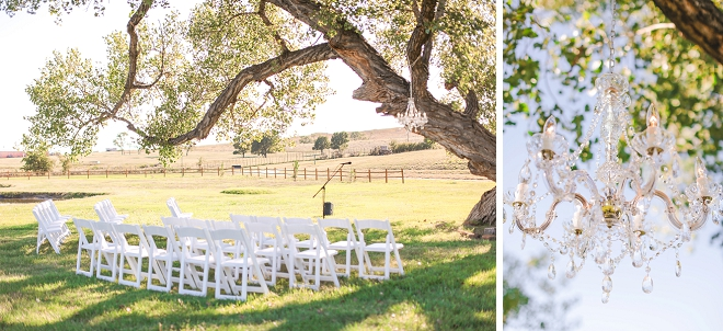 We love this couple's intimate backyard wedding!