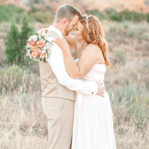We are crushing on this backyard wedding!