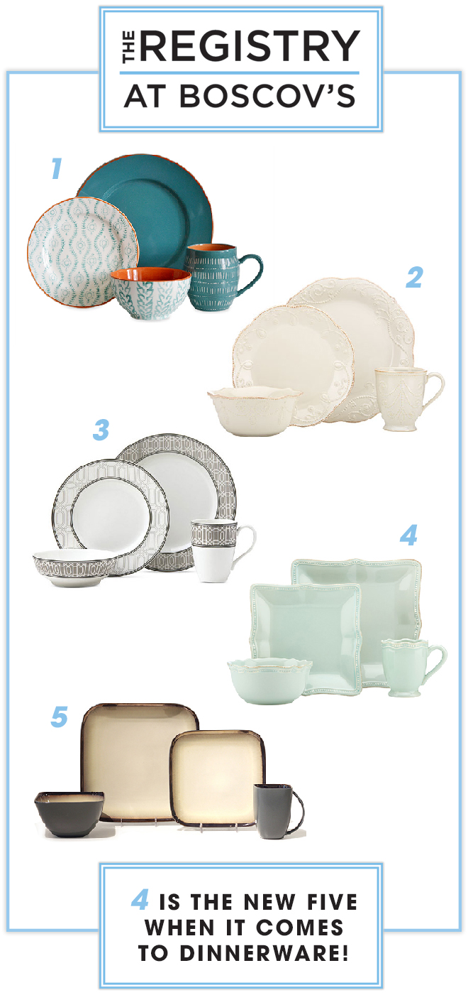 Four is the new five when it comes to dinnerware, learn why with Boscovs
