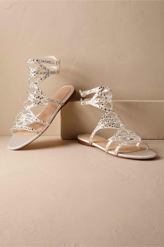 I'm thinking I want to wear bridal sandals on my wedding day! These Vince Camuto shiny sandals are so cute!