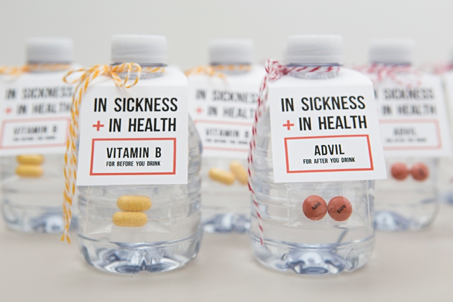 These are the cutest before and after you drink wedding favors!