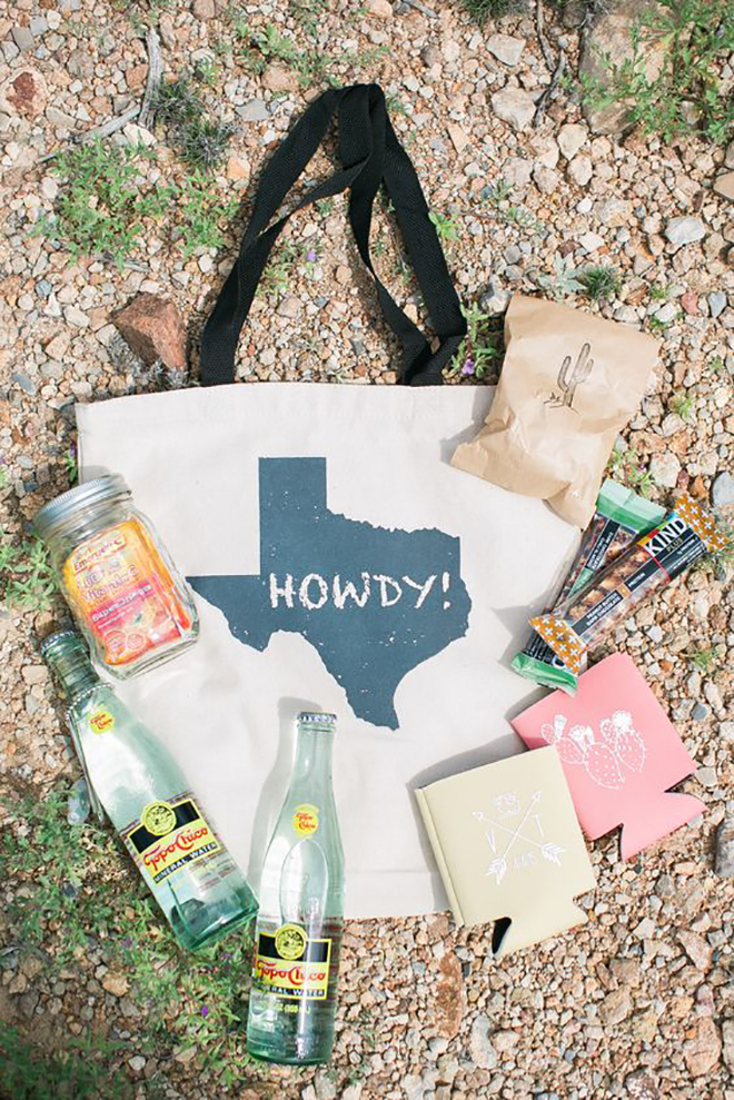 State themed welcome bags are the perfect way to personalize your day.