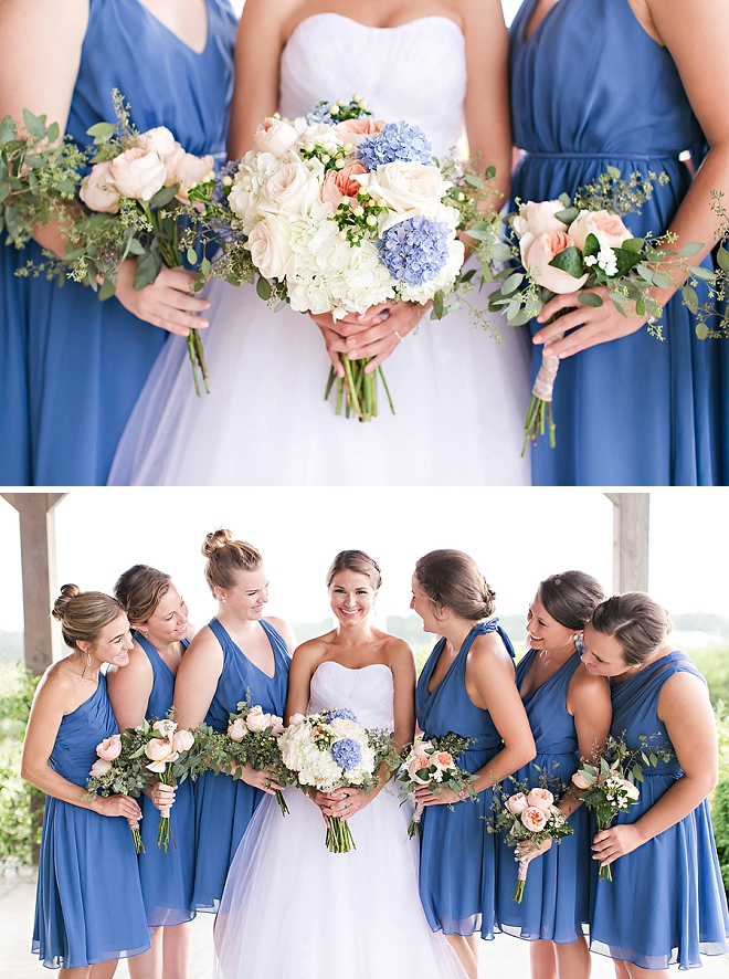 We're in love with these darling blue Bridesmaid's and these darling snaps!