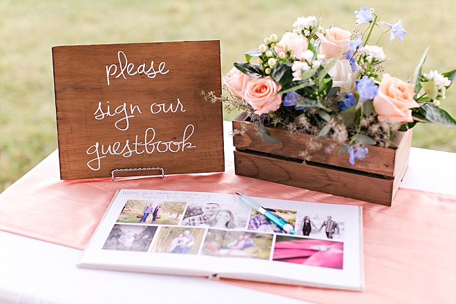 Darling guest book details at this stunning South Carolina wedding!