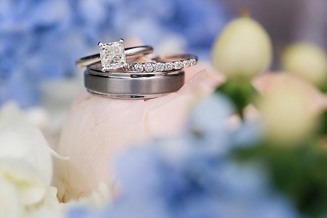 Loving this ring shot at this adorable wedding!
