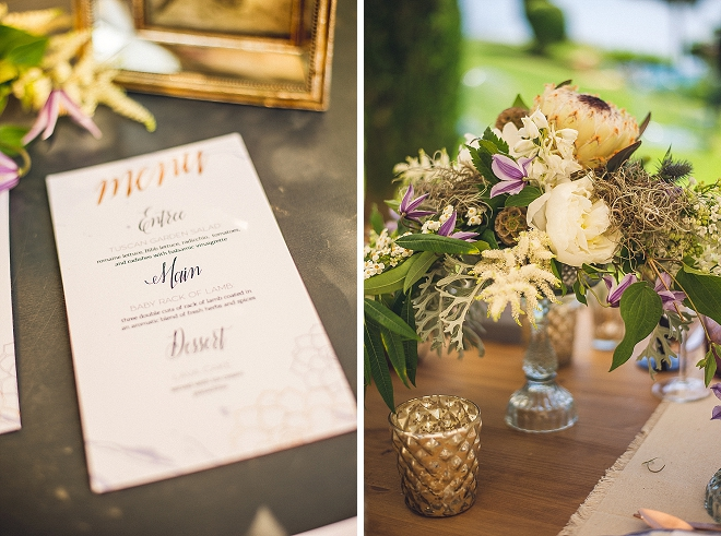 We're in love with all of the metallic and succulent details at this stunning styled shoot!