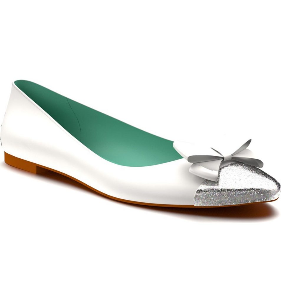 These are so pretty! White ballet flats for my wedding day! Shoes of prey.