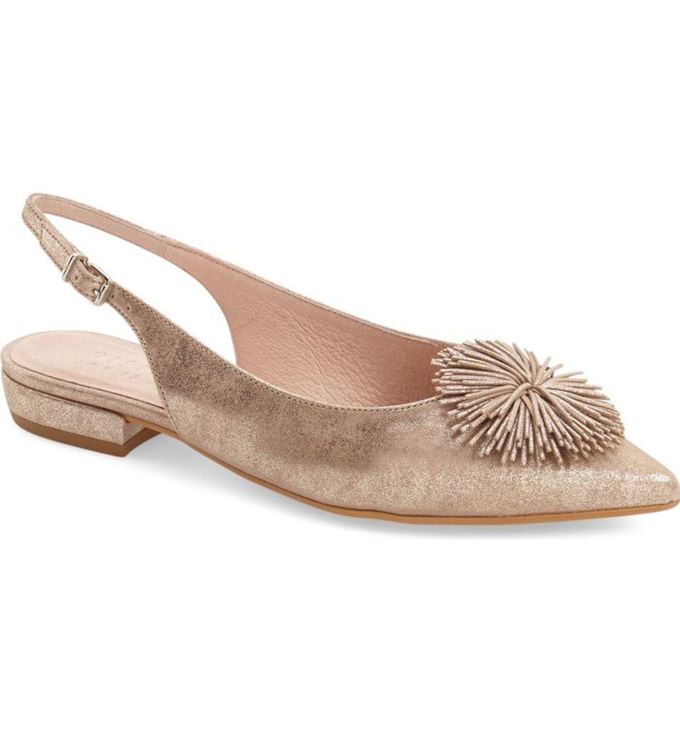 I could totally wear these bridal flats again after the wedding! Faylynn Fringe Flower Slingback HISPANITAS.