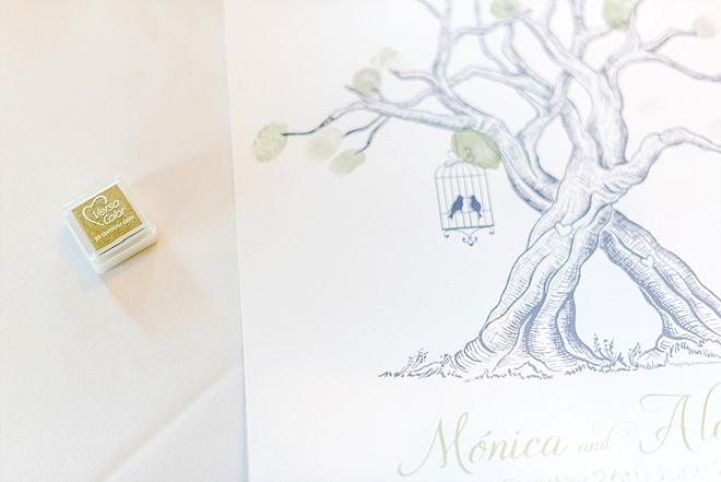 Loving this cute thumbprint tree guest book!
