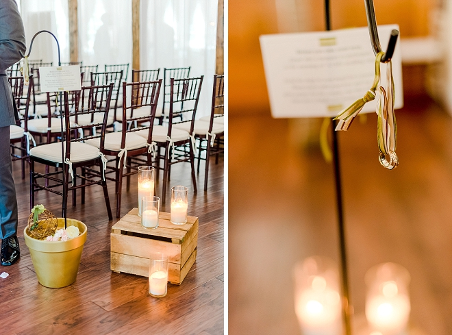 We're crushing on this couple's ring warming before the ceremony!
