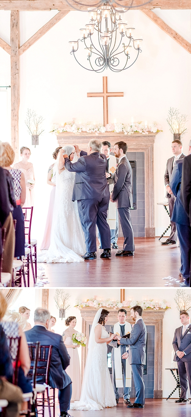 We're swooning over this sweet ceremony! Too cute!