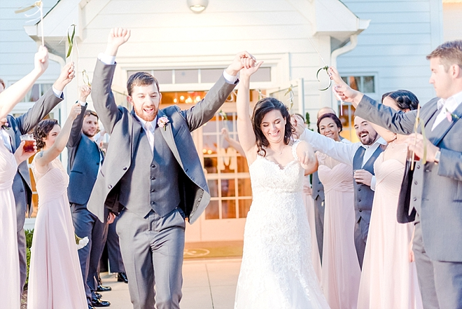 Such a FUN wedding exit - LOVE!