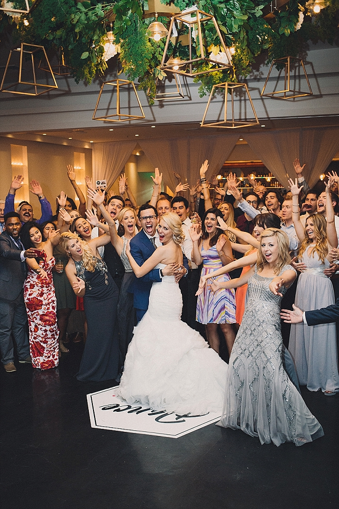 We're loving this super fun end of wedding snap!