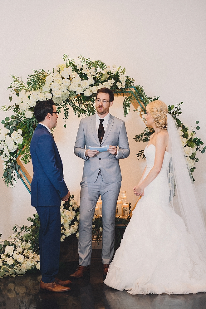 We're swooning over this super sweet and hilarious ceremony!