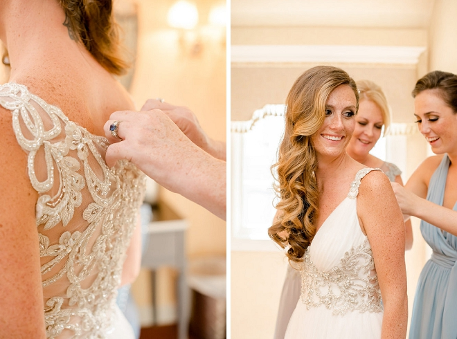 How stunning is this Bride?! Getting ready for her first look!