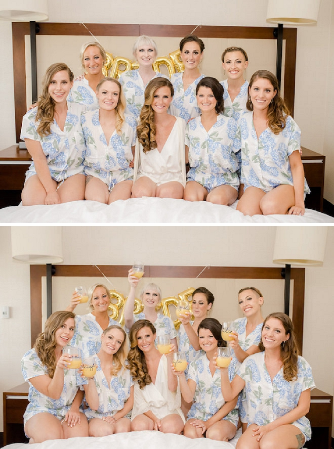 Loving these cute snaps of the Bride and her Bridesmaid's getting ready!