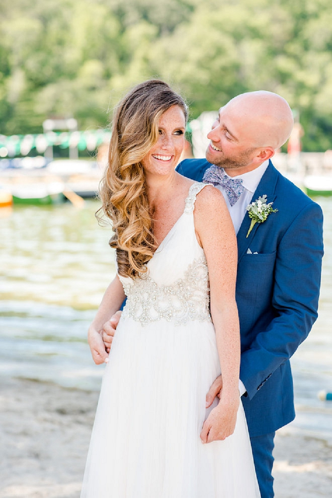We are in LOVE with this stunning couple and their gorgeous lakeside wedding!